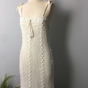 Vintage📍Bohemian Cream Crotchet Style Dress